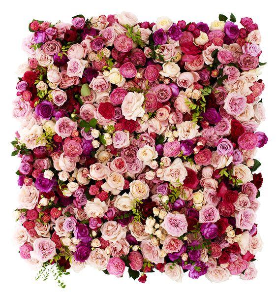 bridal shower flower wall