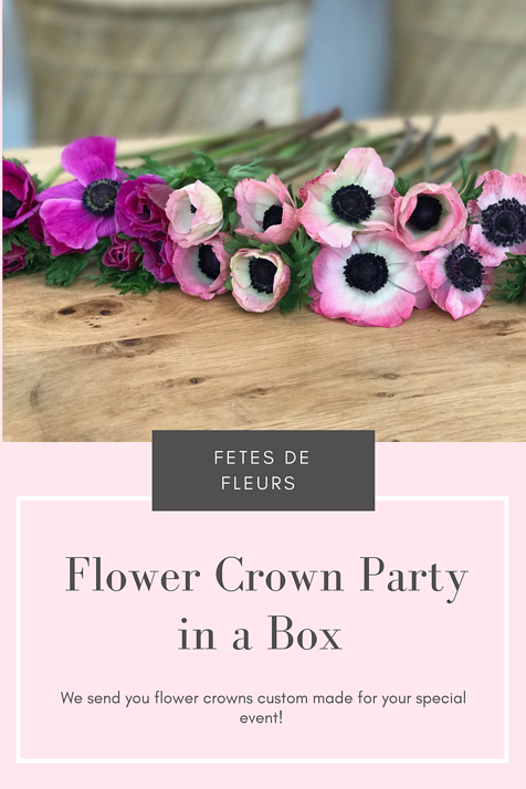 Ladies Its Time To Flower Crown Party In A Box