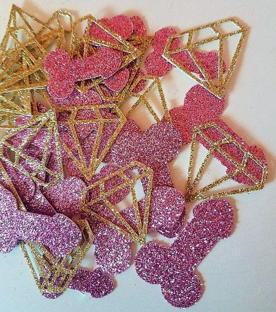 pink bachelorette confetti