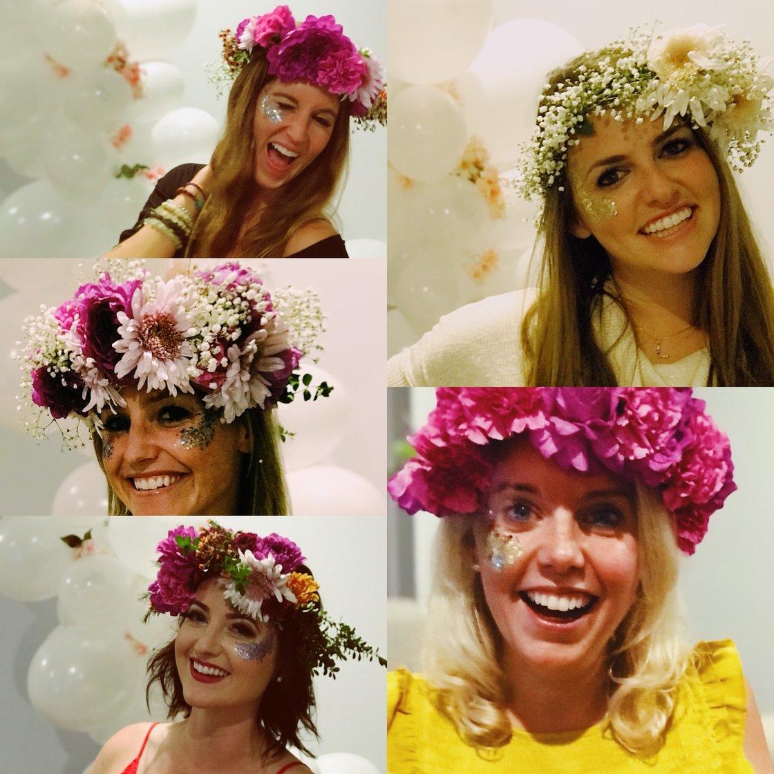 flower crown DIY party