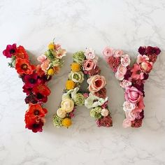 flower letters for a bridal shower