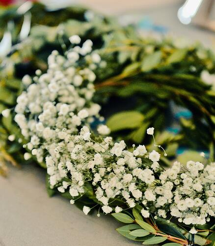 babys breath flower crown for a baby shower