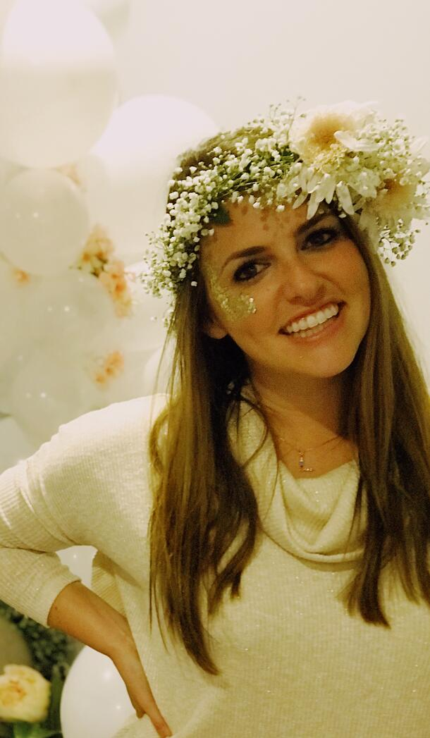 bachelorette flower crown