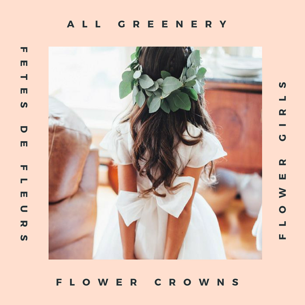 All Greenery flower crowns