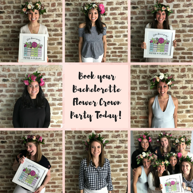 Bachelorette Flower Crown Party