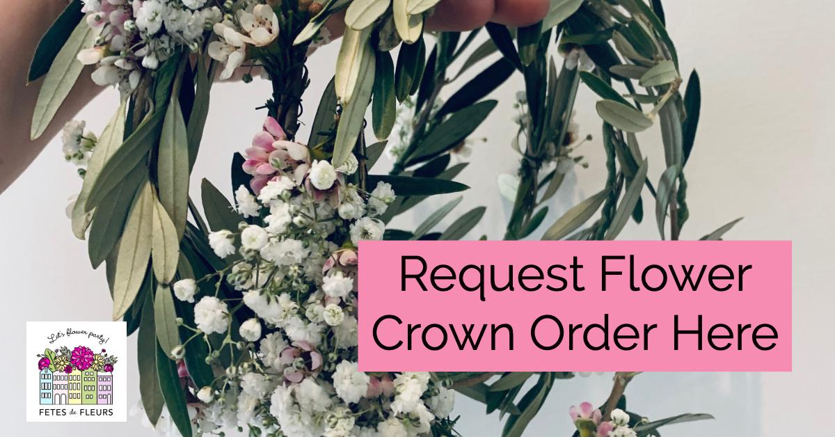 CTA- flower crown order