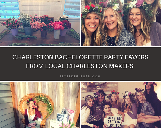 Charleston bachelorette party favors from local Charleston makers