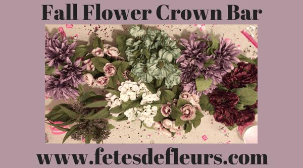 Fall Flower Crown Bar
