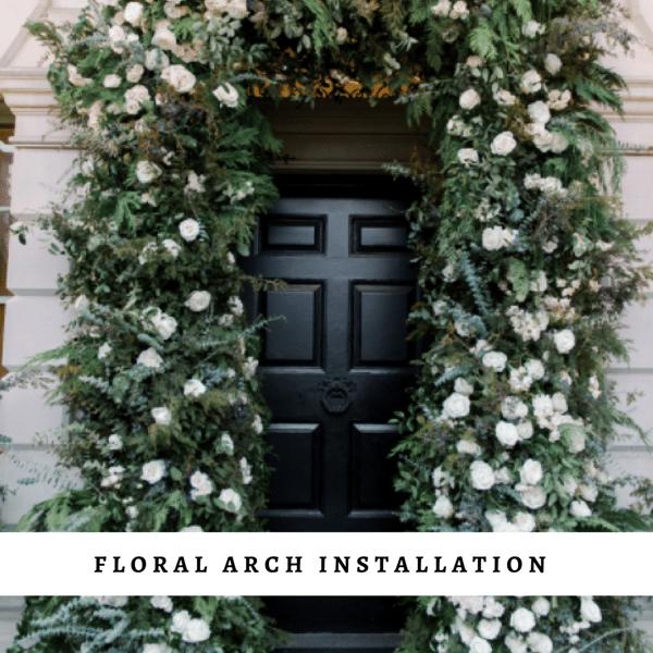 Floral arch installation