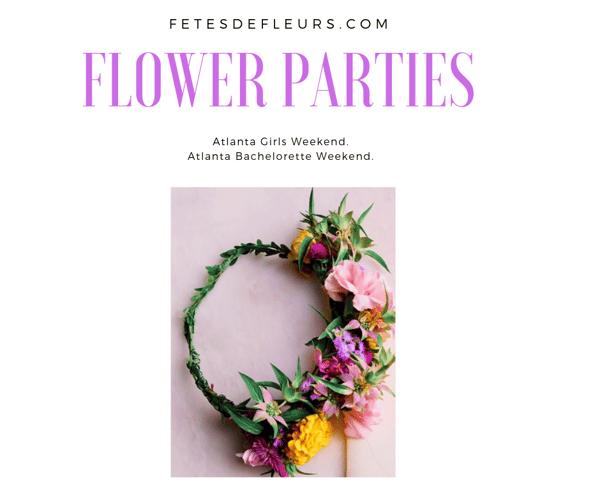 Flower Parties atlanta
