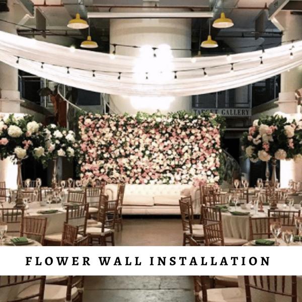 Flower Wall Installation