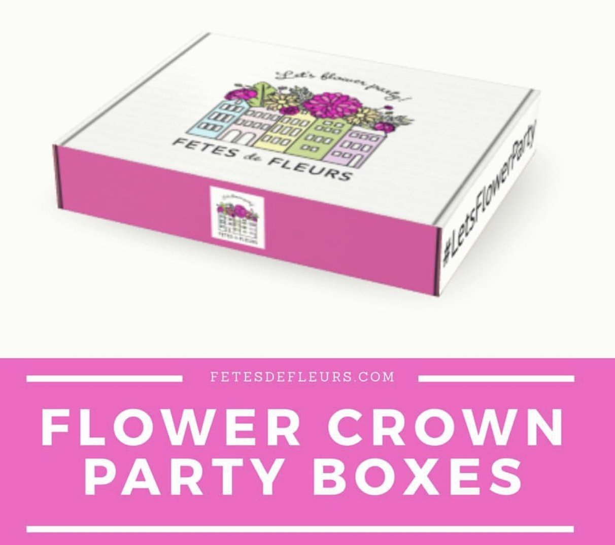 flower crown party boxes