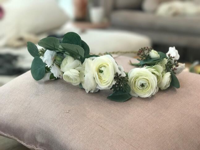 all white flower crowns