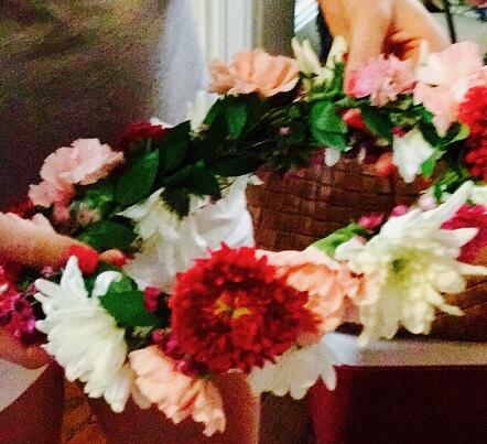 bachelorette flower crowns