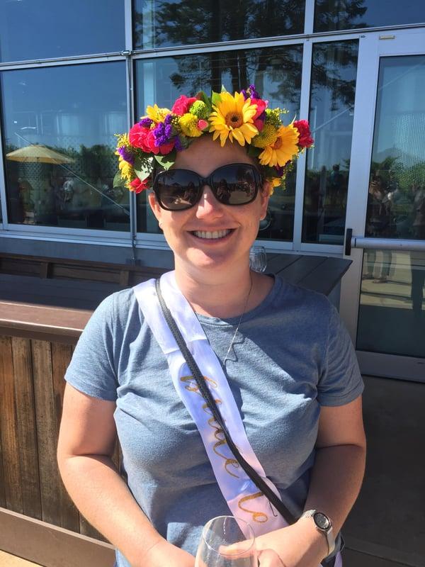 a summer flower crown