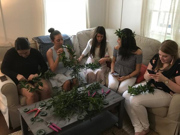 Charleston flower crown party