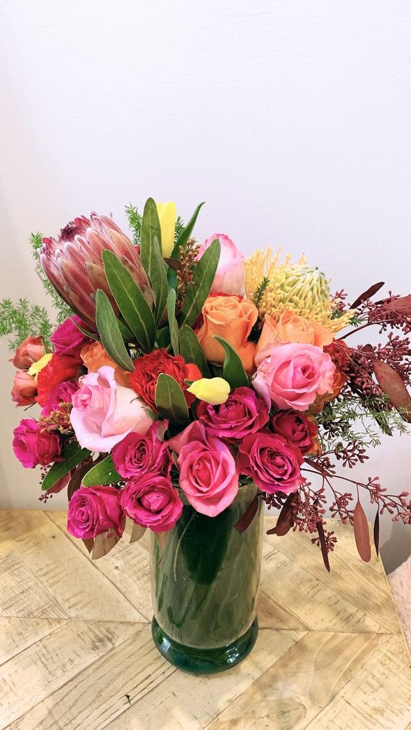 bridal shower floral arrangement