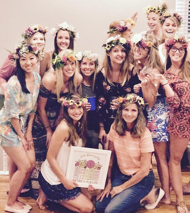 What to Expect from a Charleston Bachelorette Flower Crown Party 4c5e616efd1