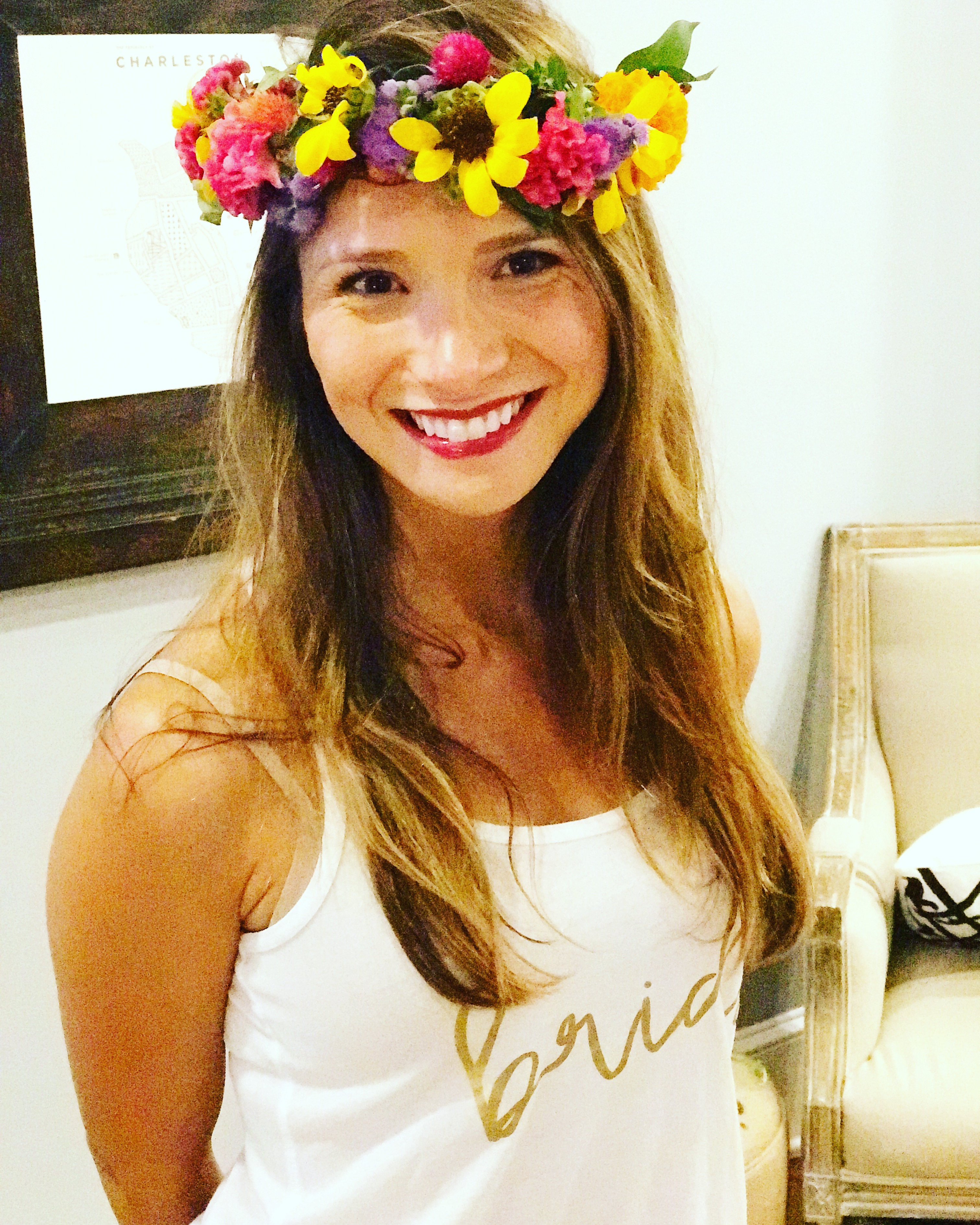 bachelorette flower crown parties