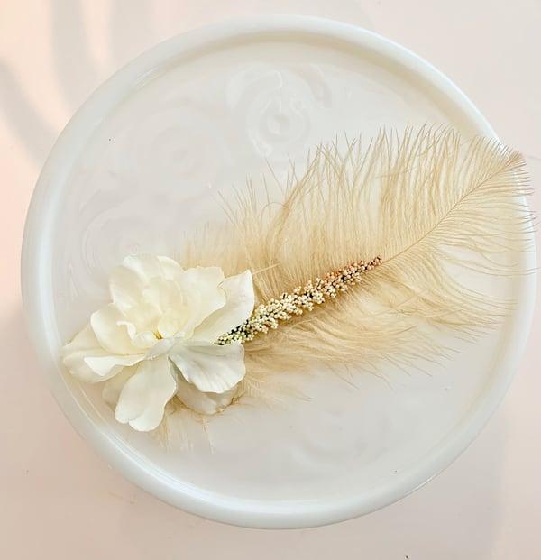 boho floral hair pin