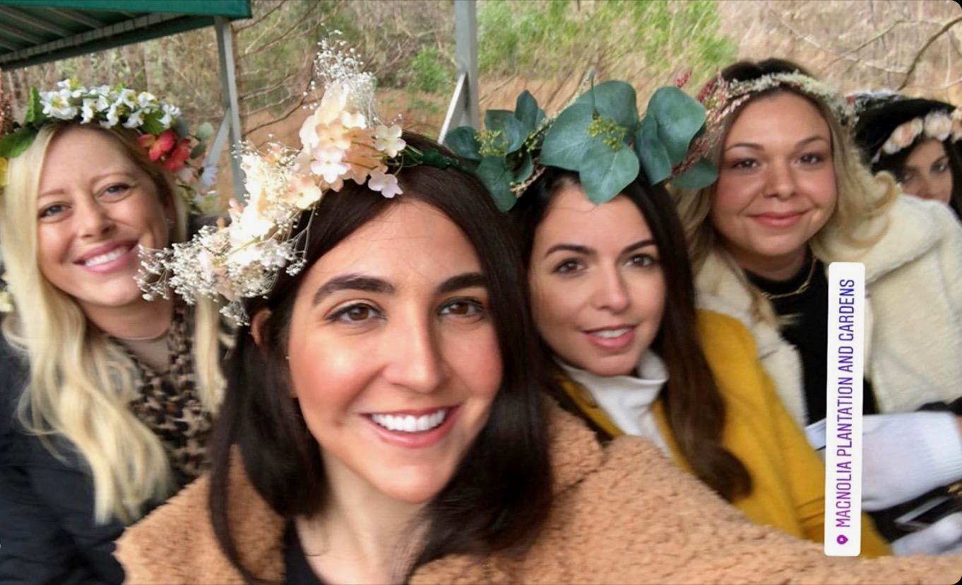 flower crowns for a charleston bachelorette party