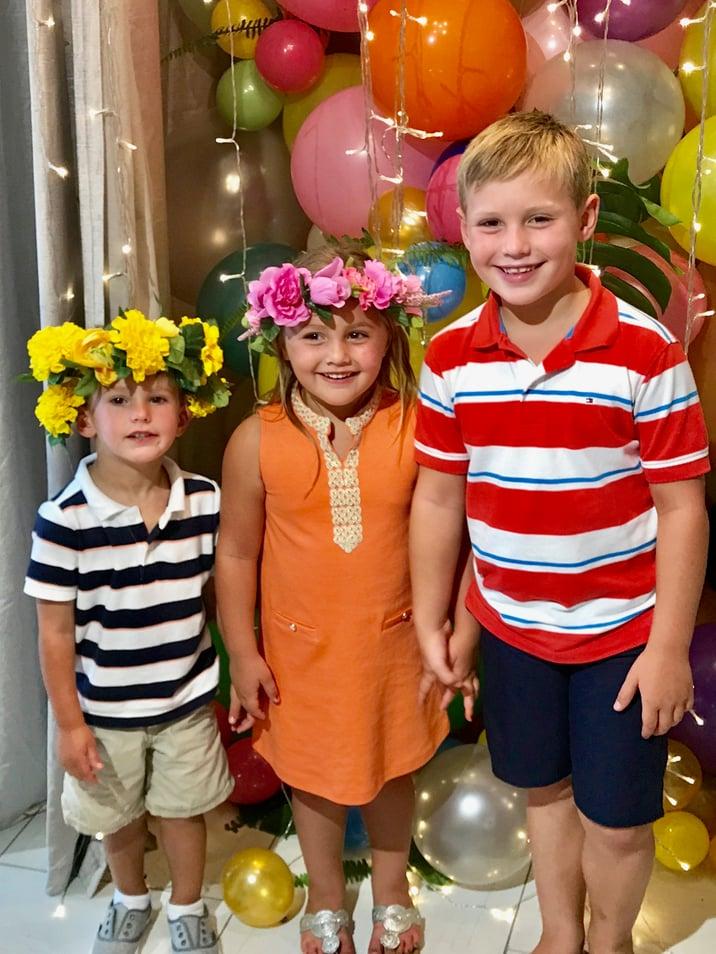 kids flower crown party
