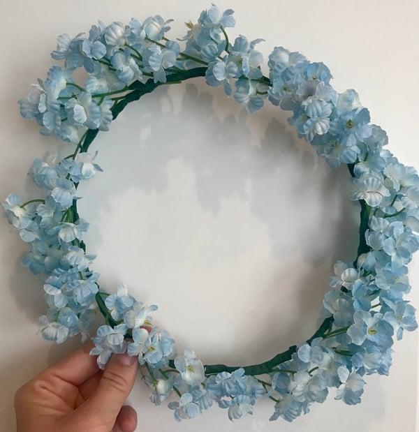 light blue flower crown
