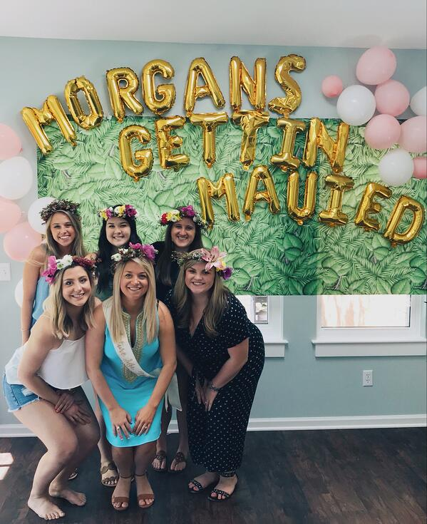 flower themed bachelorette party