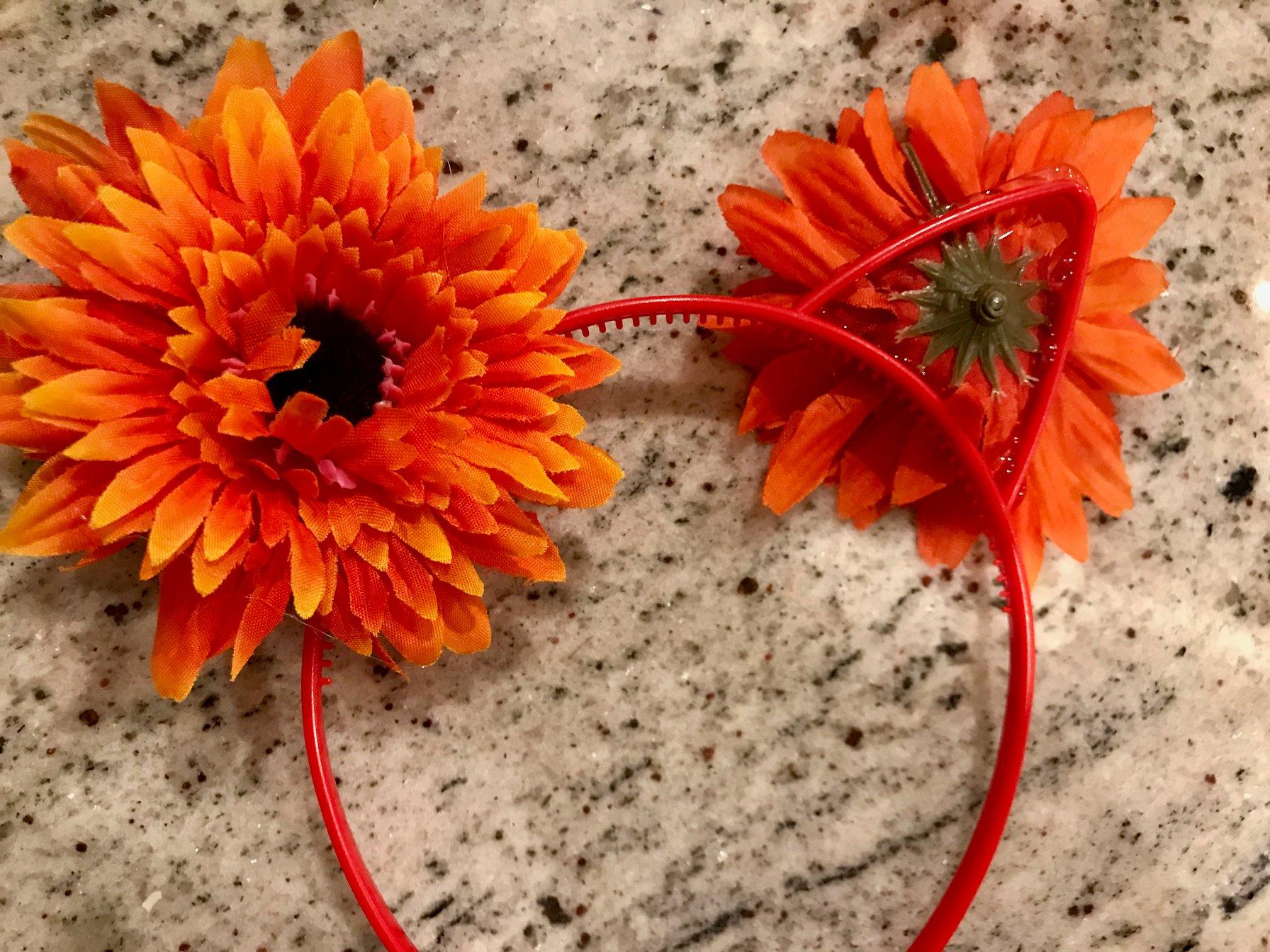 flower cat ear headbands