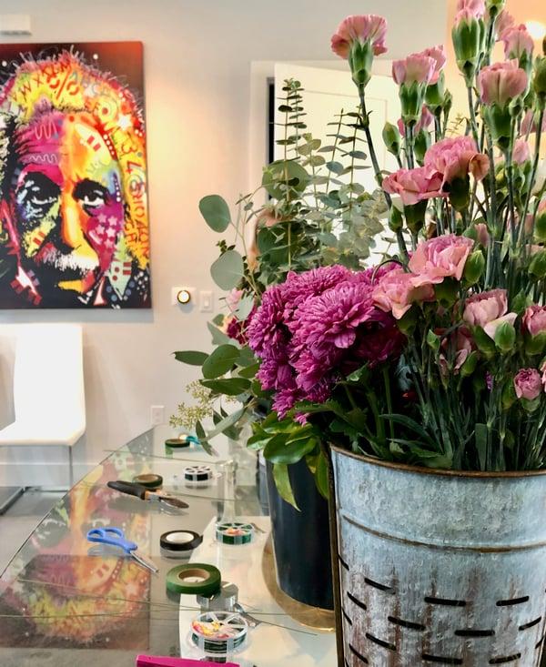 flower crown bar for an austin bachelorette party