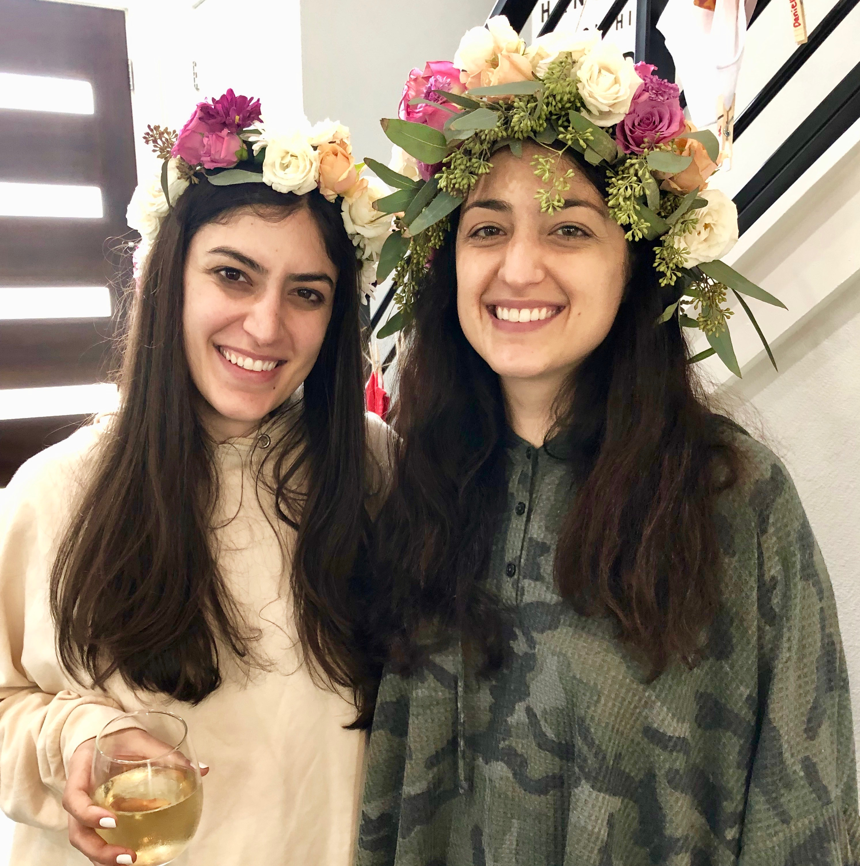 real flower crowns for an austin bachelorette party workshop