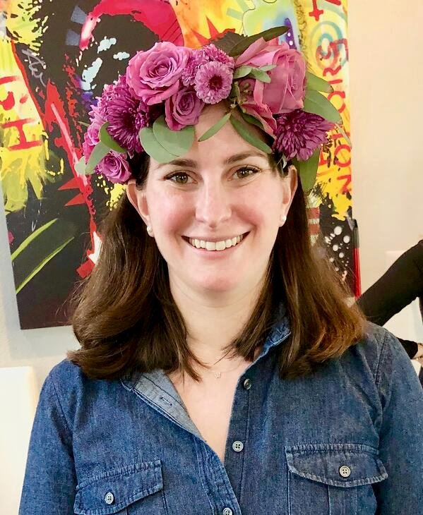pink flower crowns for an austin bachelorette party weekend