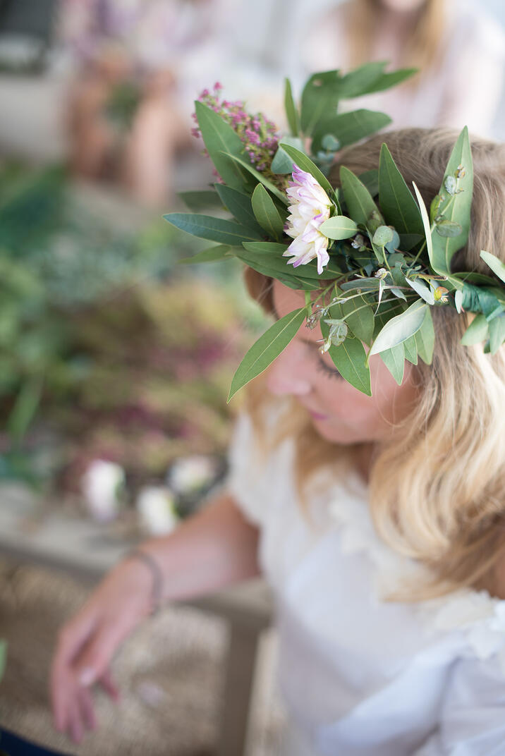 flower crown making class