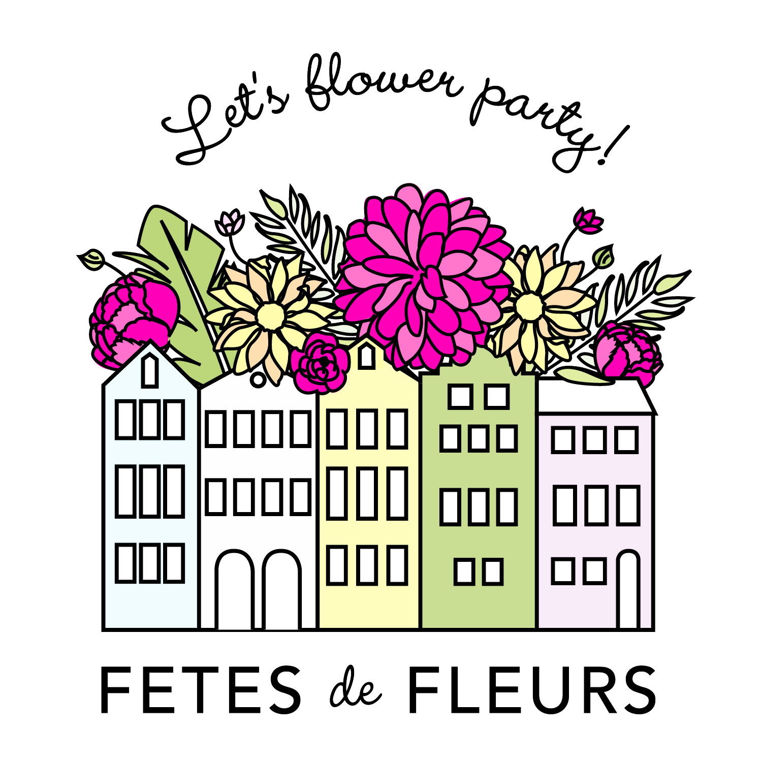 Fetes de fleurs flower parties in DC