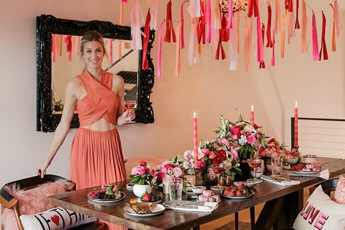 Whitney Port and Lulu and Georgia Galentines Day Fete