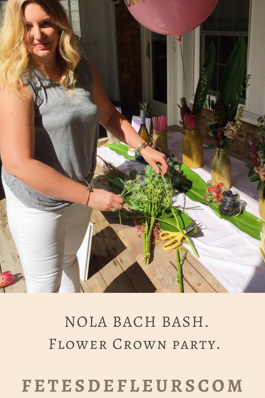 NOLA BACH BASH.Flower Crown party.