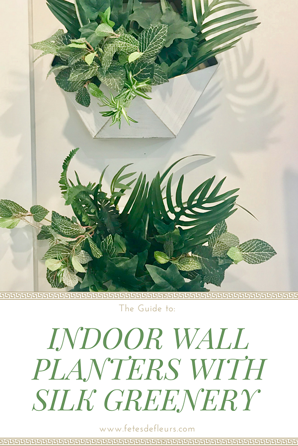 The Guide to making silk greenery wall planters indoors