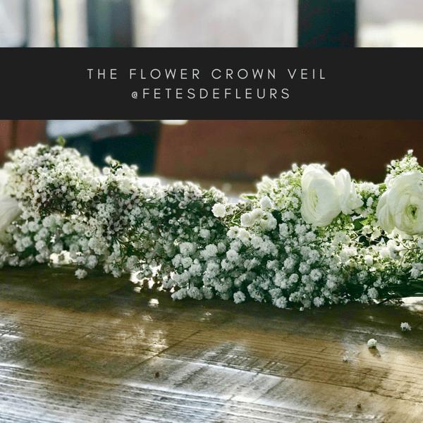 The flower crown veil @fetesdefleurs
