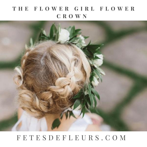 The flower girl flower crown