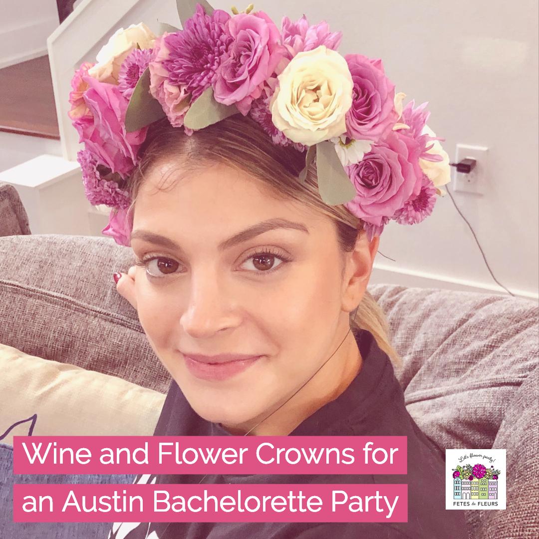 austin flower crown bachelorette party weekend