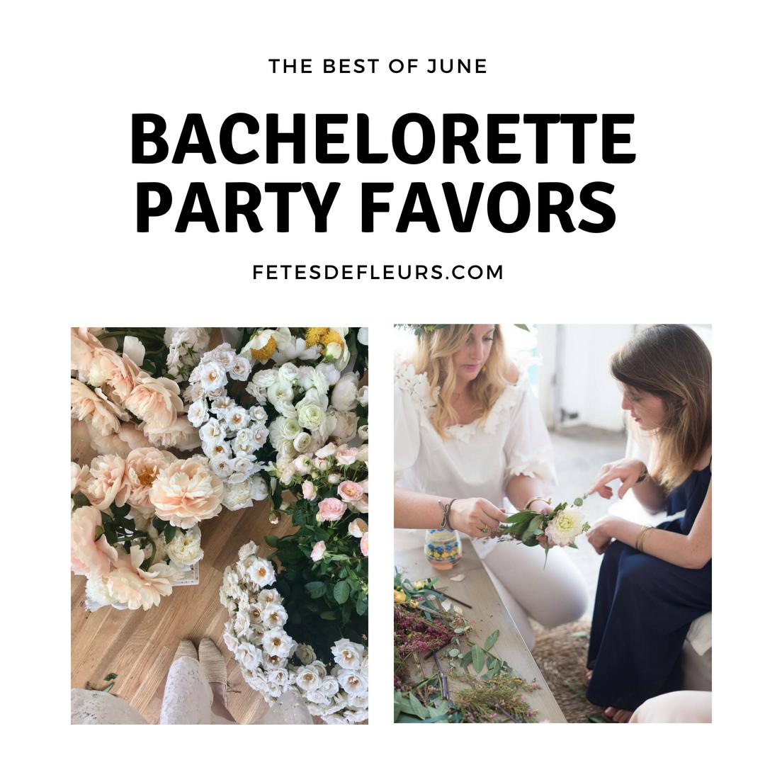 bachelorette party favors- june guide