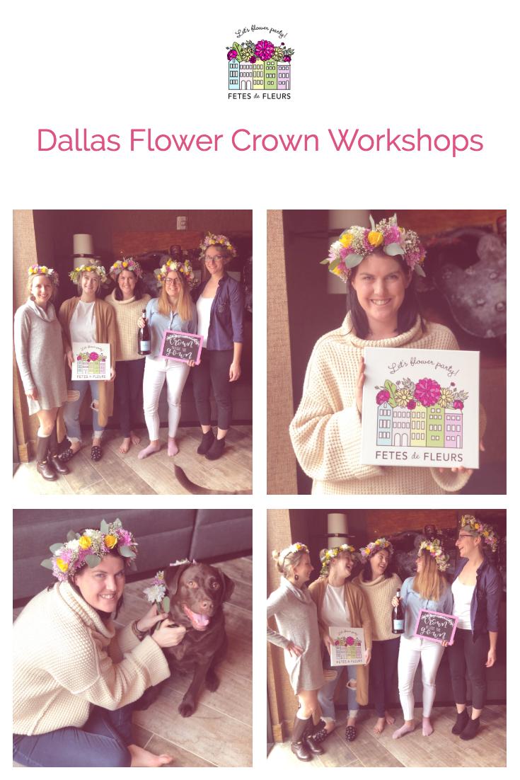 dallas flower crown workshops