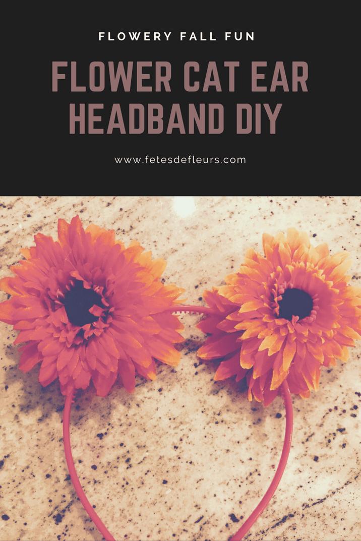 flower cat ear headband diy
