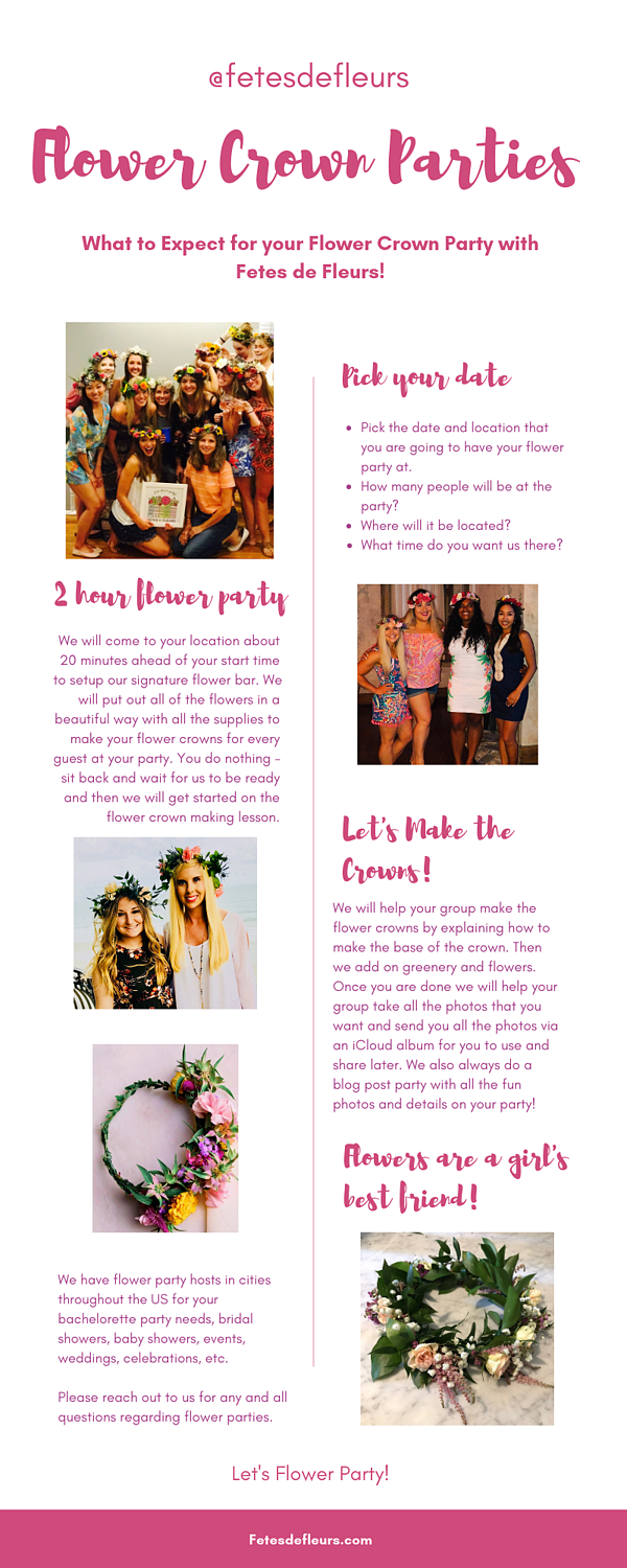 flower crown parties - what to expect