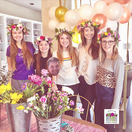 flower crown party for an austin bachelorette party