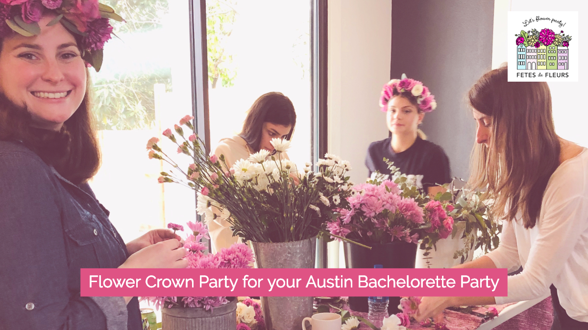 flower crown party for your austin bachelorette party