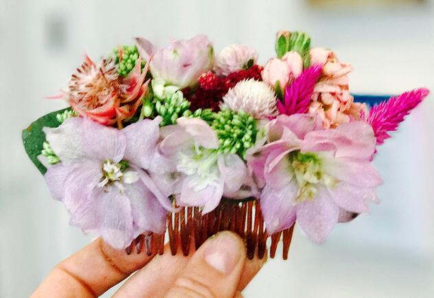 flower combs for wedding reception ideas