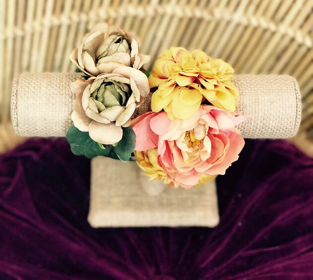 modern wedding flower corsages