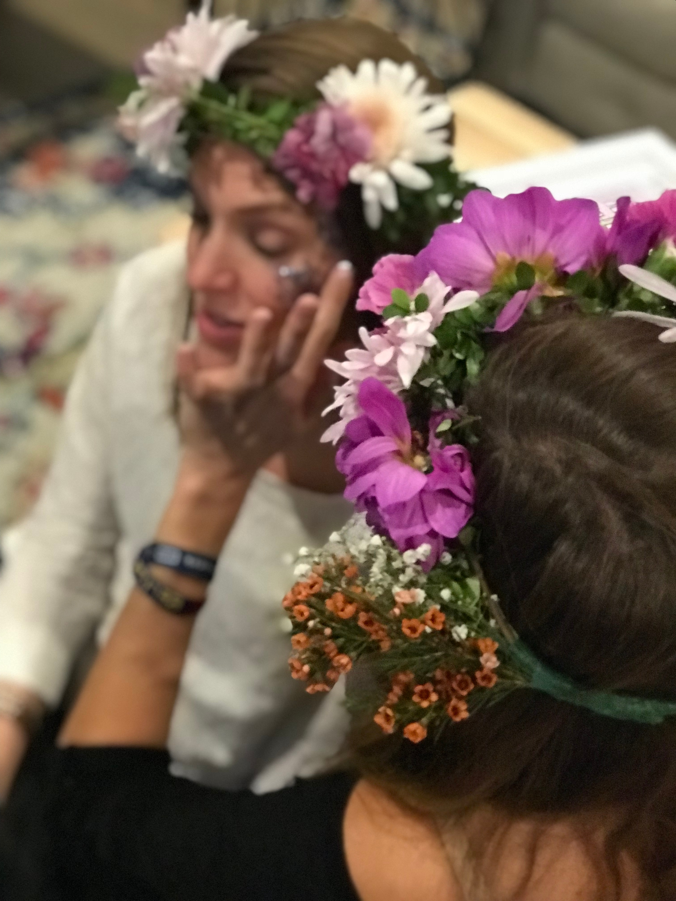 glitter and flower crown DIY bar