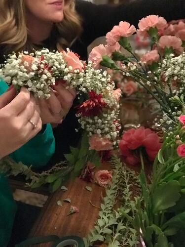 host a flower crown party